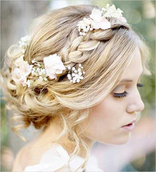 Floral precioso boda updos pelo