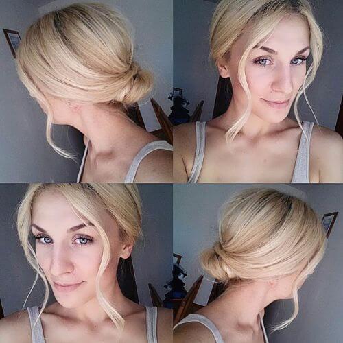 pechos bajos para el pelo corto