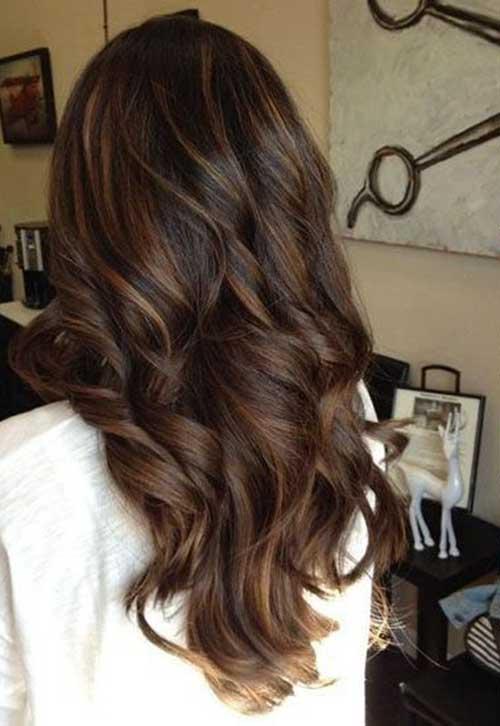 Peinados largos marrones oscuros-9