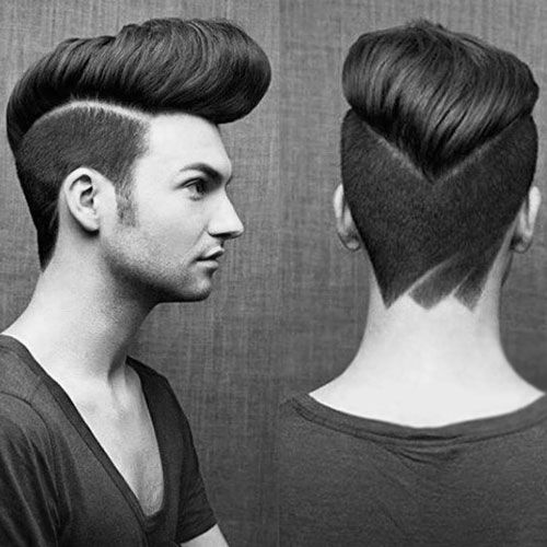 peinados de pomp afilados clásicos para hombres