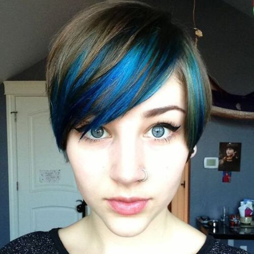 pixie blue highlights y lowlights
