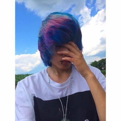 pelo de arco iris para chicos