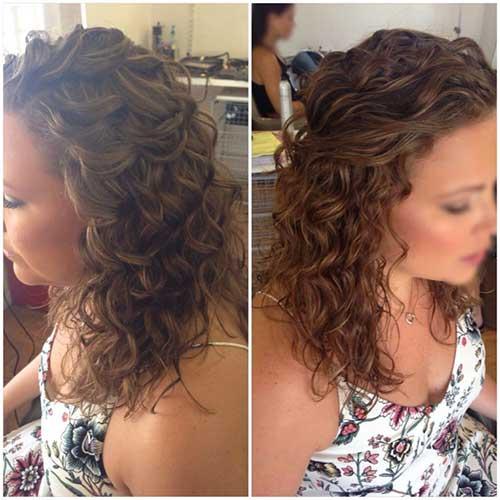 Mejor precioso cabello nupcial medio arriba
