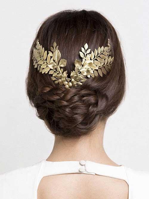 Hermosos accesorios de oro Wedding Hair Inspiration