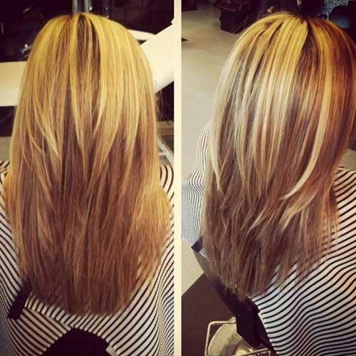 Lindo peinado largo en capas