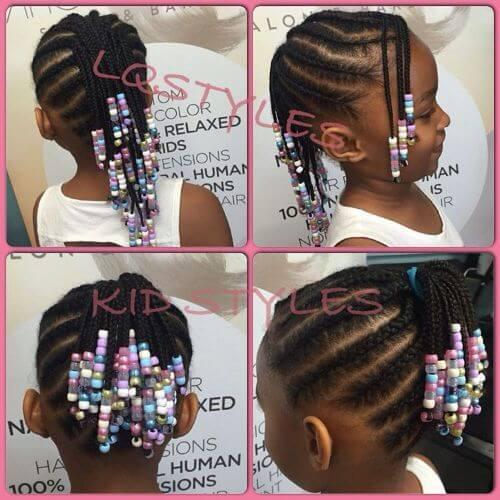 pequeños peinados con cuentas