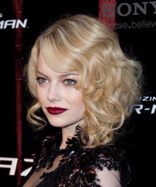 emma stone blonde goth peinados cortos