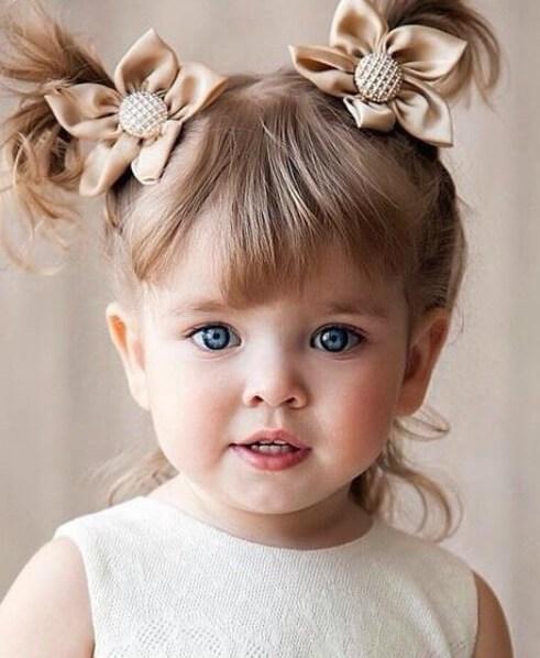 coletas de los niños pequeños peinados de las niñas