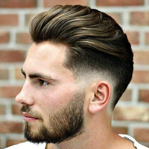 Corte de pelo bajo Pompadour Fade