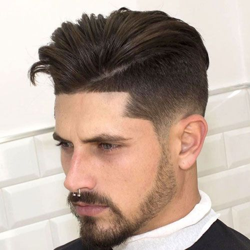 Dapper Parted Faux Hawk con Fade