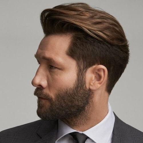 Peinados modernos para hombres con barbas