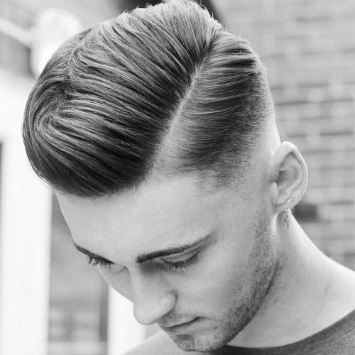 peinados pomp limpios para hombres