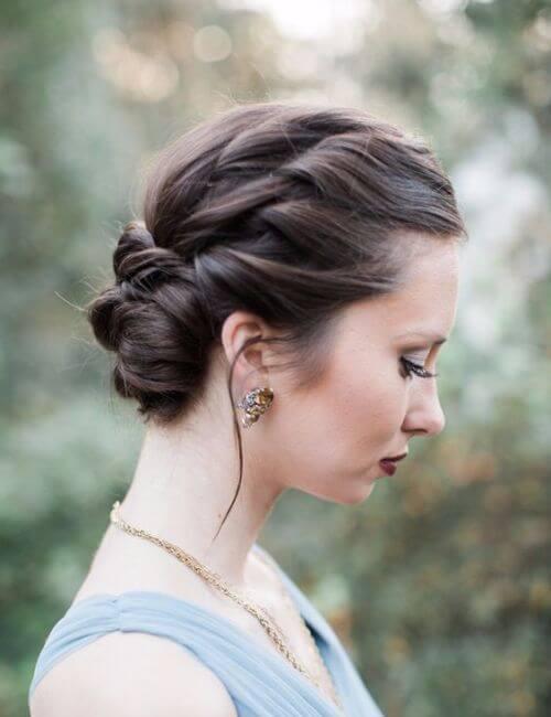 peinados de damas de honor trenzados updo