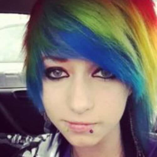 pelo de arcoiris para niñas