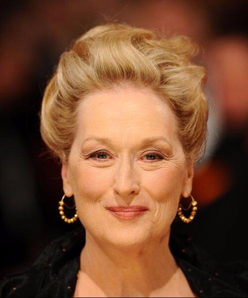 peinados meryl streep para mujeres mayores de 40 años