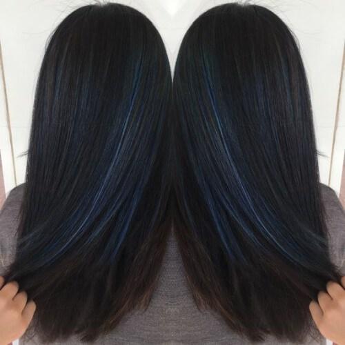 cobalto azul bajos reflejos y luces bajas