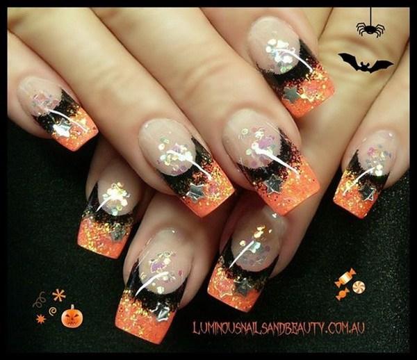 Simple Halloween Nails. Ideas de arte de uñas de Halloween.