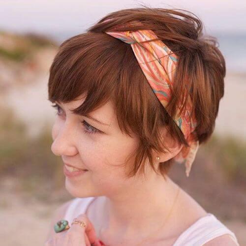 peinado bandana
