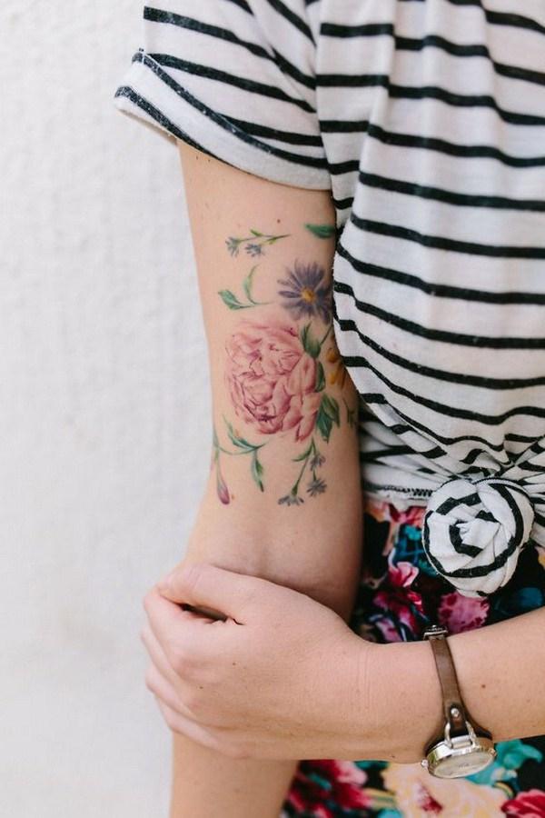 Acuarela Floral Tatoo Design.