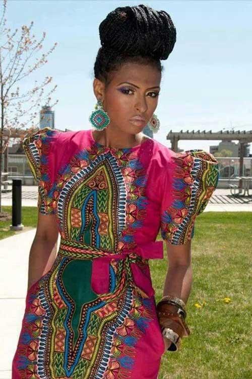 Elegantes peinados de mujeres africanas