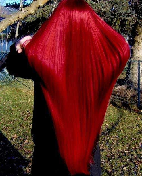 Hair Red Color-7