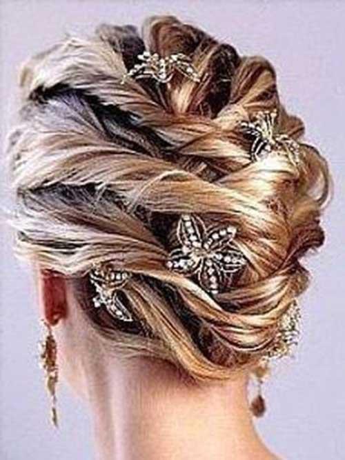 Peinados de boda con pinzas para el cabello