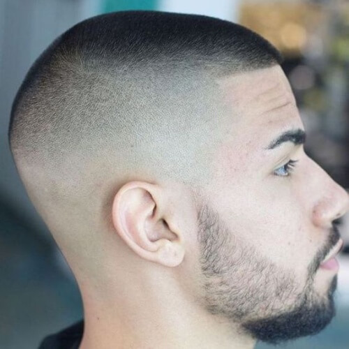 Buzz Cut Temple Fade