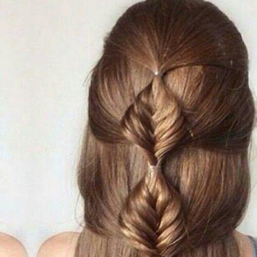 peinados de trenza de burbuja para cabello largo