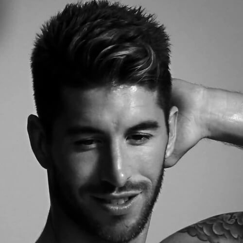 Con textura Sergio Ramos corte de pelo