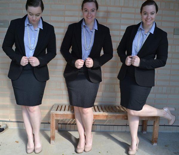 trajes de falda lápiz 24