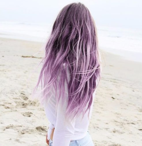 color de cabello lilac balayage