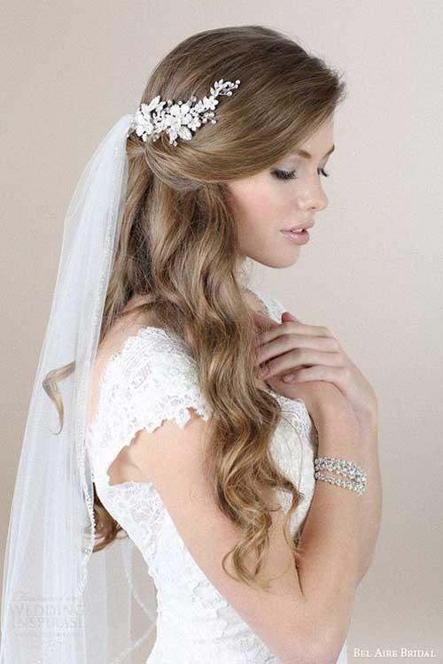 Estilos de cabello de la boda para cabello largo-8
