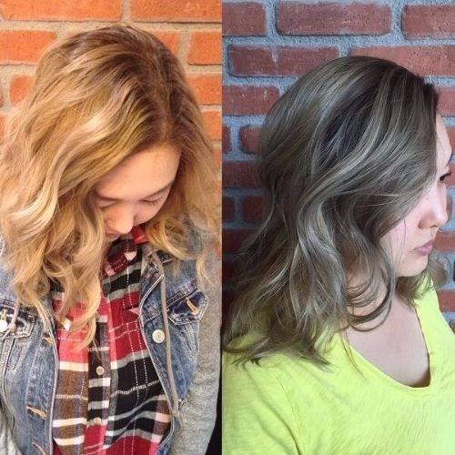 mira cambiar naranja a cabello rubio ceniza