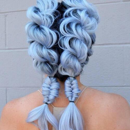peinados trenza añil ligero para cabello largo