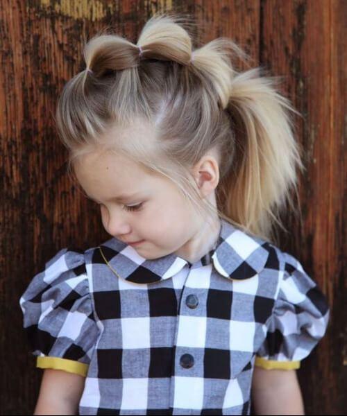 fauxhawk burbuja trenza niña peinados
