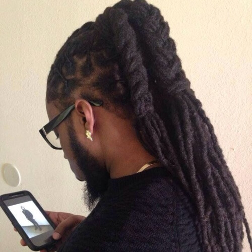 Long Dreads Ponytail