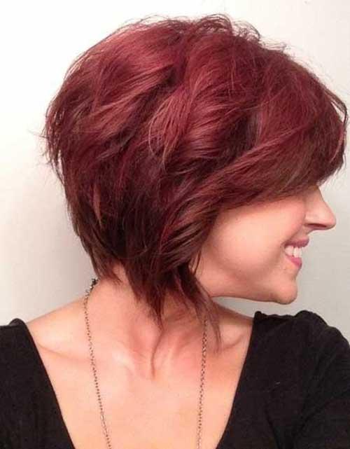 Peinados cortos de corte de pelo rojo para mujeres