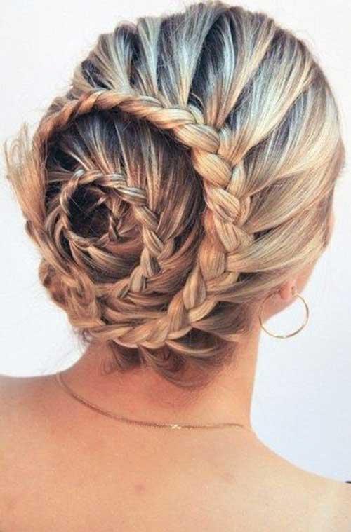 Cute Bun Long Hair Styles Trenzas para niñas
