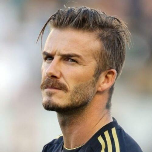David Beckham Peinados con bigotes