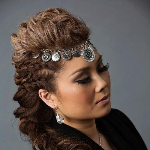 accesorio para el cabello trenzado mohawk