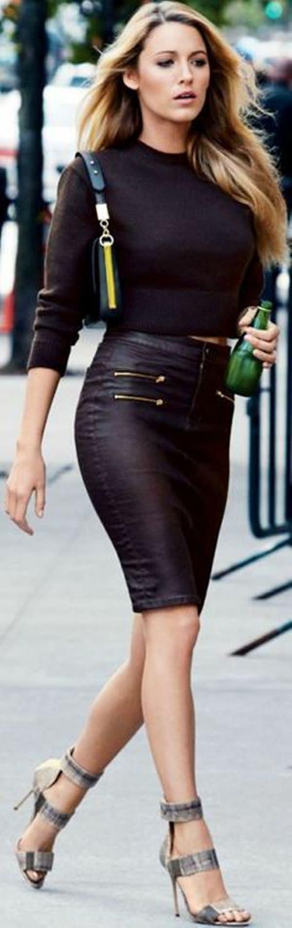 trajes de falda lápiz 31