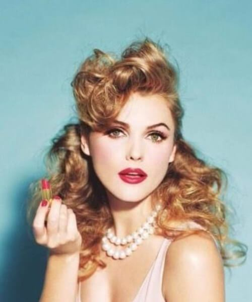 pin up hairstyles pelo largo