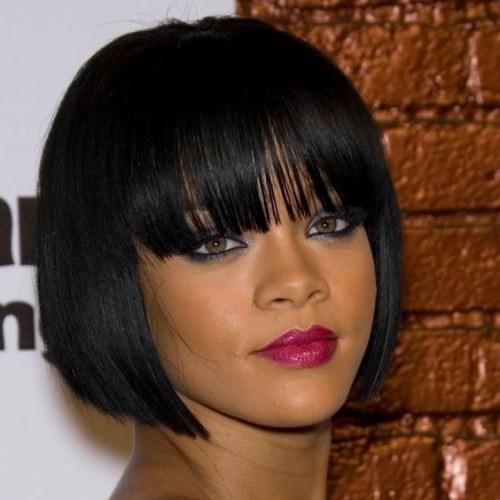 Peinados rihanna bob para mujeres negras