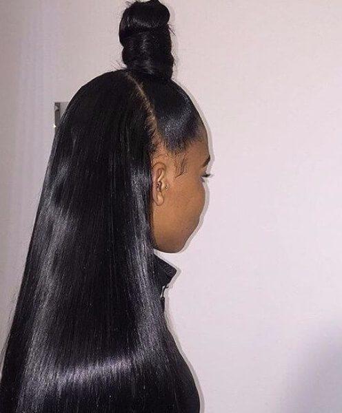 samurai bun tejer peinados