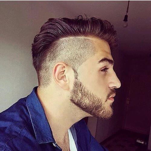 peinado de la parte de afeitar para los hombres