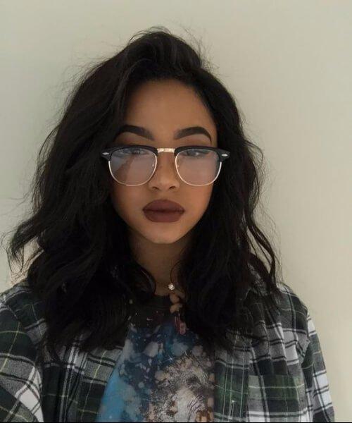 ondas suaves peinados chica negro