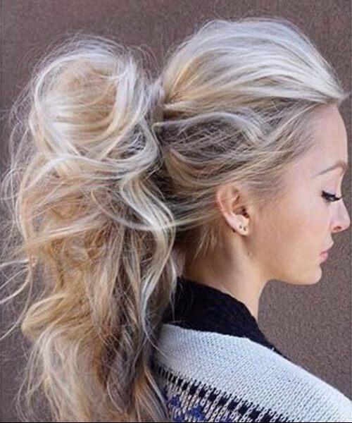 desordenado cola de caballo largos peinados