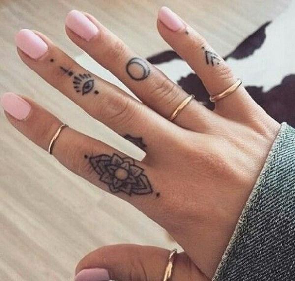 Finger Cover Up Tattoo Design.