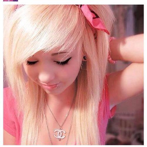 rosa pelo rubio emo