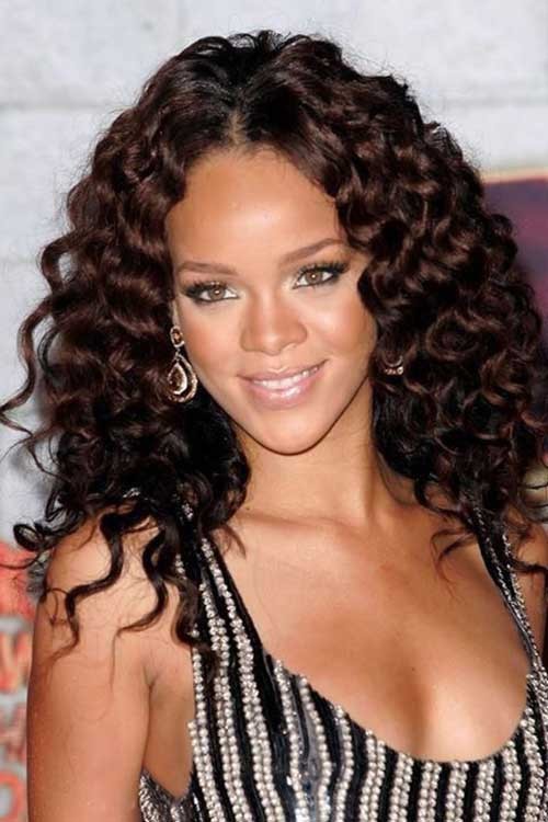 Rihanna Long Curly Hair-7